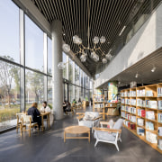 The ground floor of the new library is