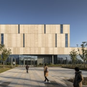 The new library, with its open, accessible architecture,