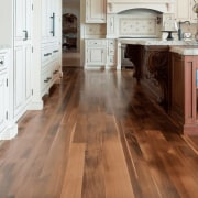 See more here cabinetry, countertop, cuisine classique, floor, flooring, hardwood, kitchen, laminate flooring, tile, wood, wood flooring, wood stain, brown, white