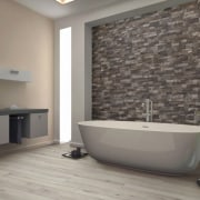 Stone tiles as seen by The Tile Depot bathroom, floor, flooring, interior design, room, tile, wall, gray