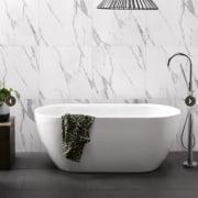 Freestanding bath Cassini http://athena.co.nz/products/cassini-bath/ bathroom, bathroom sink, bathtub, ceramic, plumbing fixture, product, tap, white