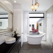 As with all the large bathrooms in this bathroom, ceiling, estate, home, interior design, property, real estate, room, gray