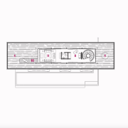 1 entry, 2 dining room, 3 kitchen, 4 electronics, font, line, technology, text, white