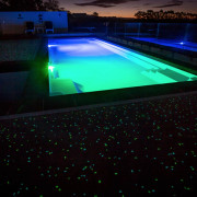 Ready, set, glow - architecture | green | architecture, green, light, lighting, night, swimming pool, technology, water, black