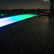 Ready, set, glow - architecture | blue | architecture, blue, green, light, lighting, night, sky, swimming pool, technology, water, black