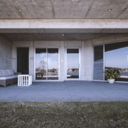 Concrete and plenty of glass – the home