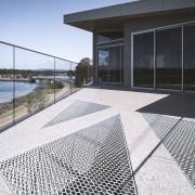 Metal grids in the upper sun deck allow