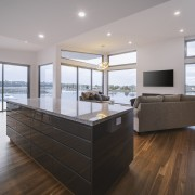 The upper level spotted gum timber floors inject