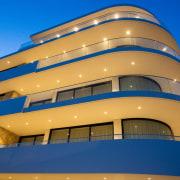 Soul Apartments 4 - architecture   balcony   architecture, balcony, building, commercial building, facade, material property, naval architecture, property, real estate, blue, orange