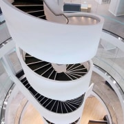 TA Bcorp Offices 1 - architecture | building architecture, building, circle, daylighting, design, spiral, stairs, gray