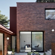 Robust materials such as brick and exposed concrete