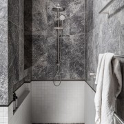 The shower's open, wet room design maximises space