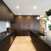 All appliances are well concealed behind cabinets and