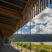 WINNER: Te Wharehou o Waikaremoana - architecture | architecture, cloud, home, house, real estate, sky, structure, tree, wood, black