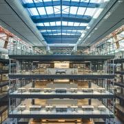 The building used 3km of balustrade, 2,000sqm of skylights,