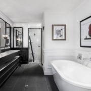 2018 TIDA Australia Designer Bathroom Winner – Leon bathroom, home, interior design, plumbing fixture, room, sink, white, gray