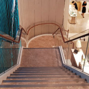 Tiffany Co Sydney 1 - architecture | building architecture, building, handrail, stairs, brown