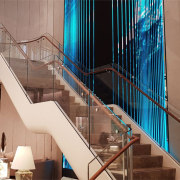 Tiffany Co Sydney 3 - architecture | baluster architecture, baluster, blue, building, handrail, interior design, lobby, material property, property, real estate, stairs, orange, brown