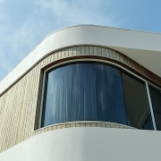 An external view of the master suite's curvaceous