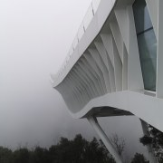 The cantilevered structures rely largely on horizontal stresses