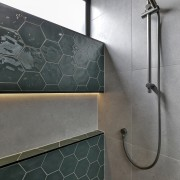 Grey meets green – the master ensuite shower