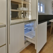 The double pocket door bar area includes a