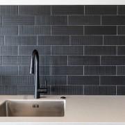 The Brick Text Black splashback tiles have a
