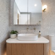 Well-rounded design – concealed lighting accentuates the curvaceous
