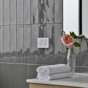 Touch Graphite Gloss 75x300mm wall tile brings a