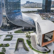 The Hengqin International Financial Center is as fluid