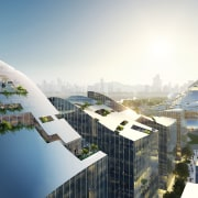 MVRDV envisions the Tencent campus as a grid white, gray
