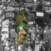Original story from Trulia aerial photography, bird's eye view, city, metropolitan area, neighbourhood, residential area, suburb, tree, urban area, gray, black