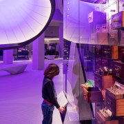 Zaha Hadid – Mathematics: The Winton Gallery – interior design, lighting, magenta, pink, purple, violet, purple