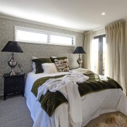 Showhome Taranaki - Showhome Taranaki - bed frame bed frame, bedroom, ceiling, estate, home, interior design, property, real estate, room, window, window treatment, gray