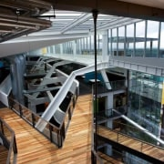 ASB North Wharf floor by Hardwood Technology - architecture, building, daylighting, structure, black, gray