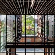 Architect: Woods Bagot/KannFinchPhotography by Trevor Mein architecture, condominium, daylighting, facade, glass, house, interior design, real estate, window, black, gray