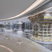 Architect: X+LivingPhotography by Shao Feng architecture, building, metropolis, mixed use, retail, shopping mall, supermarket, gray