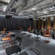 H Academy – Shi-Chieh Lu/CJ Studio - H interior design, black, gray