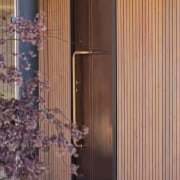 The Lake House – Resene Architectural Design Awards architecture, door, facade, interior design, structure, wall, window covering, window treatment, wood, orange