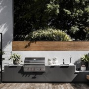 Architect: Technē Architecture + Interior DesignPhotography by architecture, backyard, courtyard, furniture, home, house, interior design, outdoor structure, patio, plant, wall, black