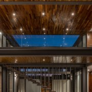 Colima home/Di Frenna Arquitectos architecture, ceiling, daylighting, interior design, lighting, lobby, brown, black