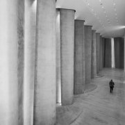 The Len Lye Centre 03 - The Len architecture, black and white, column, concrete, daylighting, floor, monochrome, monochrome photography, photography, snapshot, structure, tourist attraction, wall, gray