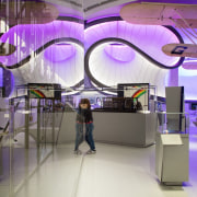Zaha Hadid – Mathematics: The Winton Gallery – interior design, product design, purple, shopping mall, gray, purple