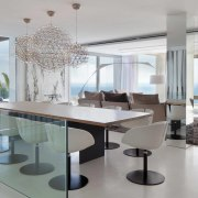 Spacious dining area - Spacious dining area - dining room, furniture, interior design, property, real estate, table, gray, white