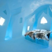 'Césare´s Wake' by Petros Dermatas and Ellie Souti arctic, azure, blue, ice, ice hotel, teal