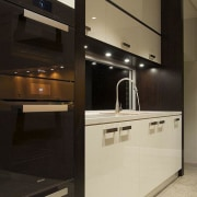JAG Kitchens - Earth, fire, water and air cabinetry, countertop, home appliance, interior design, kitchen, product design, black, orange