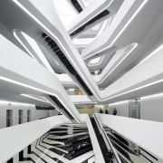 Farewell to Dame Zaha Hadid - Dominion office architecture, building, ceiling, daylighting, interior design, line, product design, structure, white, gray
