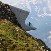Farewell to Dame Zaha Hadid - Messner Mountain alps, fell, fjord, glacial landform, hill station, mountain, mountain pass, mountain range, ridge, sky, terrain, gray, brown