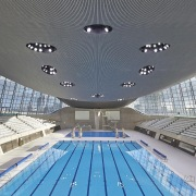 Farewell to Dame Zaha Hadid - The London architecture, building, ceiling, daylighting, leisure, leisure centre, sport venue, structure, swimming pool, gray