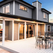 Envira bevel back weatherboards - Envira bevel back cottage, elevation, facade, home, house, property, real estate, siding, window, white
